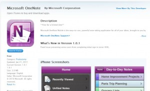 Microsoft Onenote iPhoneアプリ